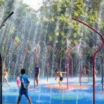 保育園での水遊び!